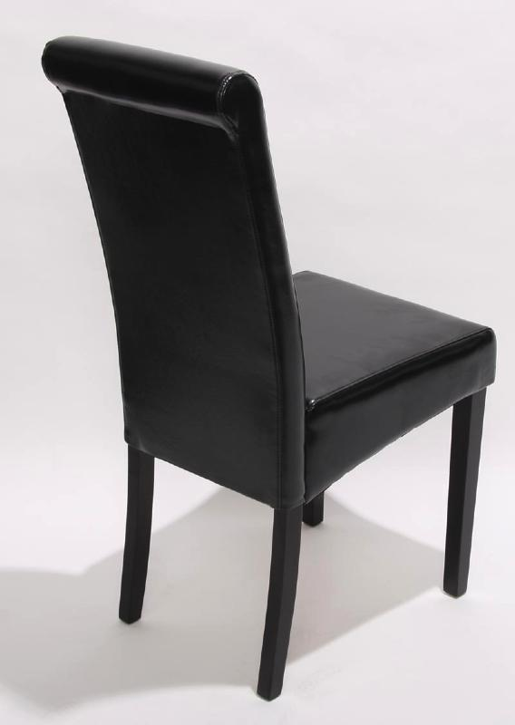 Photo Chaise De Salle A Manger Simili Cuir Noir