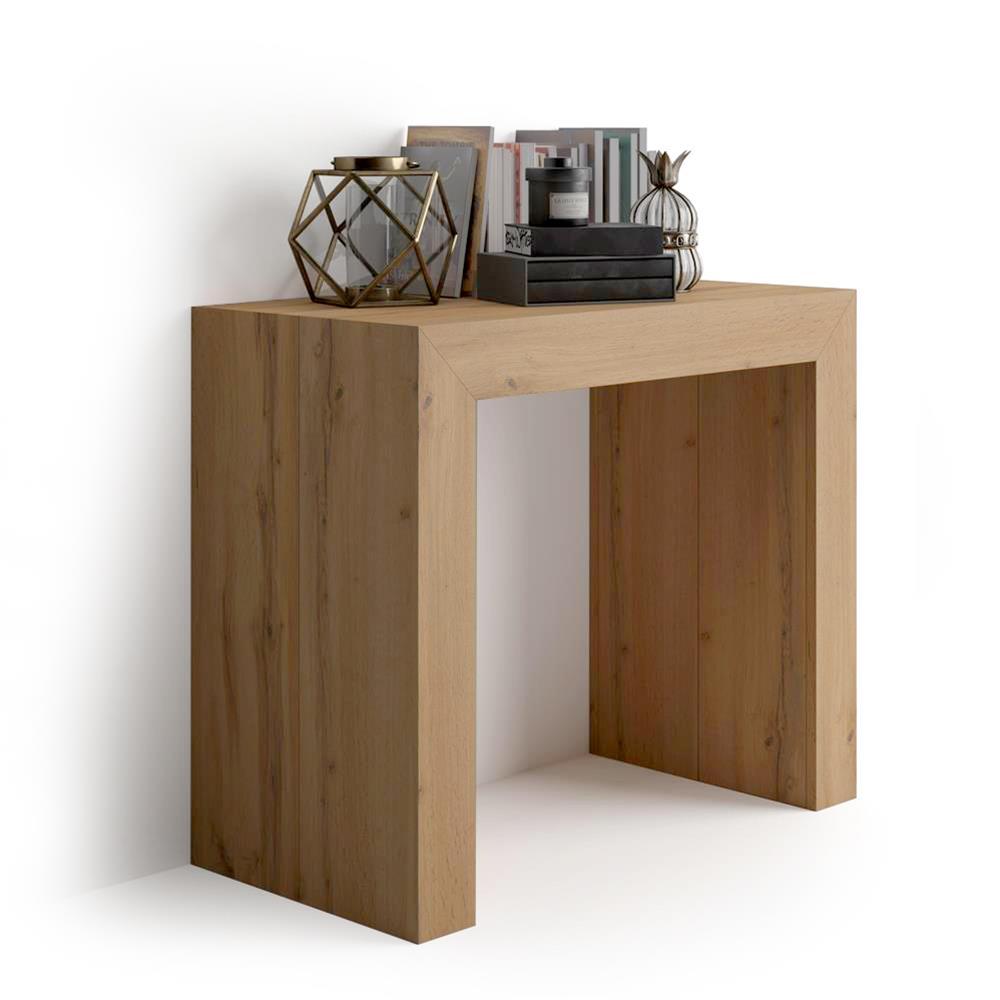 table console extensible angelica bois rustique