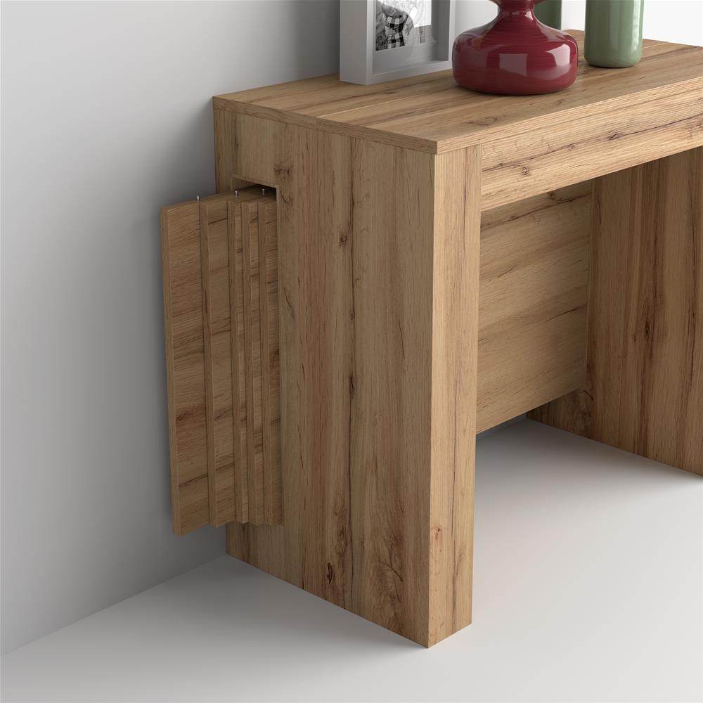 table console extensible avec rallonges integrees easy bois rustique