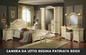 CAMERA DA LETTO MOBILPIU\' REGINA PATINATA BEIGE – Arredamento a ...