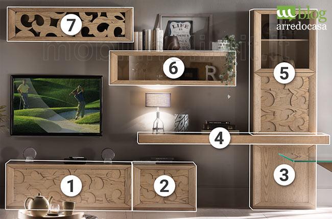 Per la tua parete combina essenze legno, nobilitati, colorati, effetto metallo e spatolati. Ordinare Il Soggiorno Con Una Parete Attrezzata Contemporanea M Blog