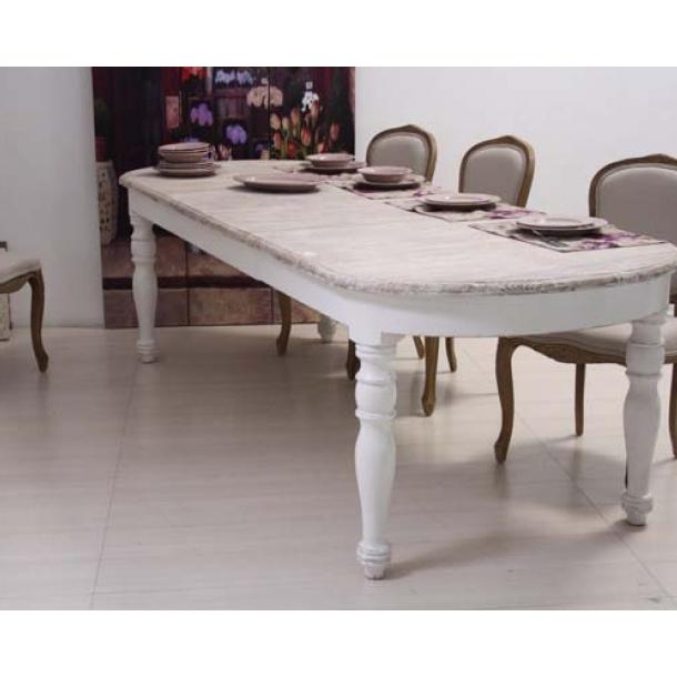 Raffinato tavolo in legno di mango rettangolare allungabile in stile shabby chic, le sue venature. Tavolo Ovale Shabby Chic Mobili Provenzali Shabby Chic On Line