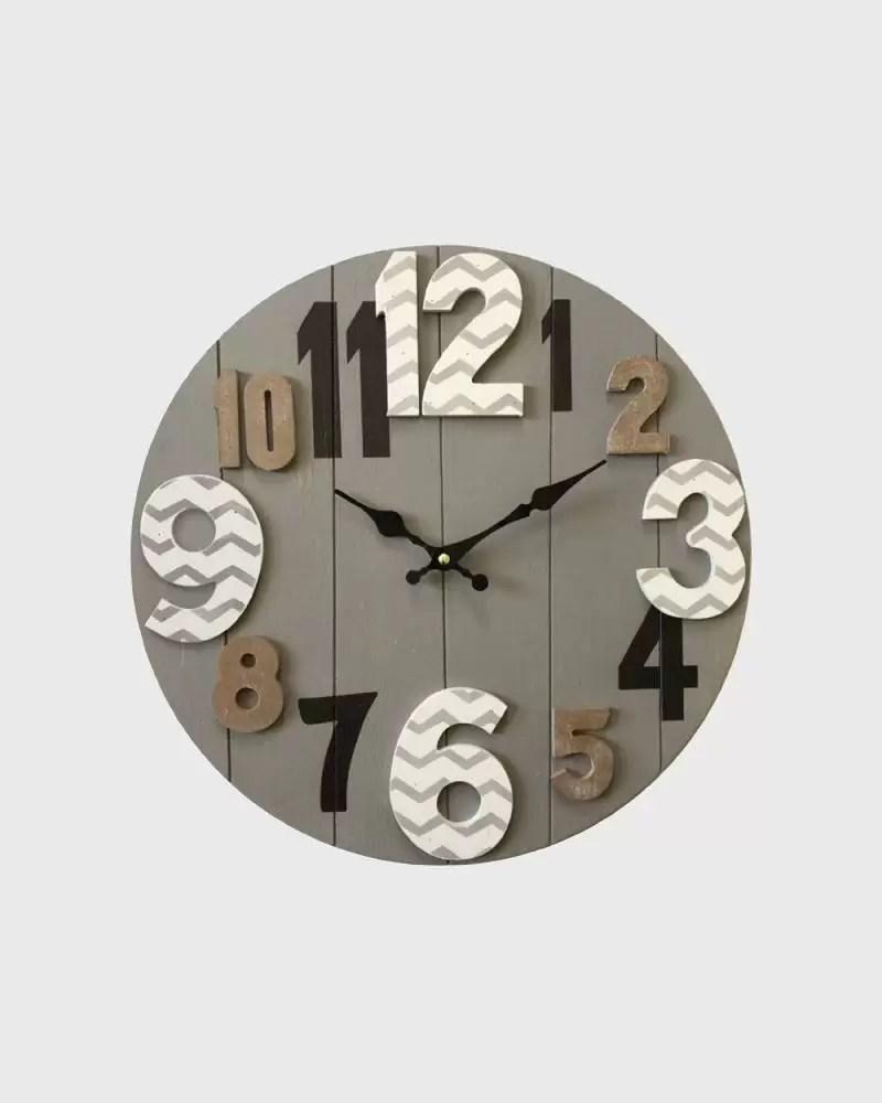 Visualizza altre idee su orologio moderno, orologio, orologi da parete. Wall Clock With Large Numbers With A Modern Design Mobili Rebecca