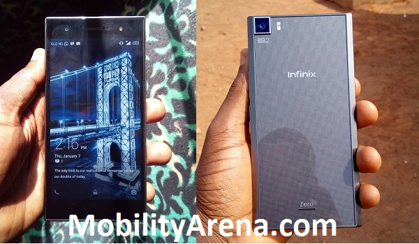 Infinix Zero 3 front and back