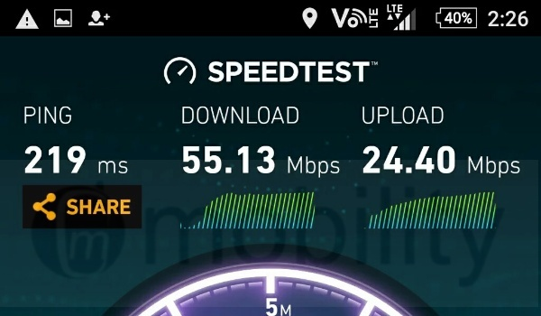 ntel 4g speedtest