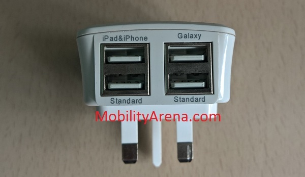 4 Port USB Power Adapter ports 2