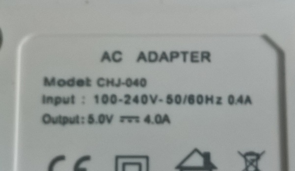 4 Port USB Power Adapter rating