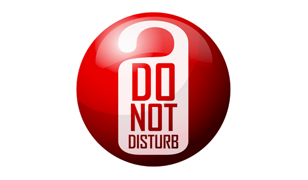 how to use do not disturb icon