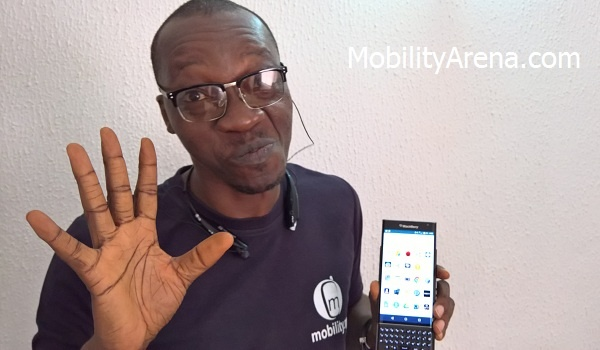 BlackBerry Priv Review Mr Mo hand