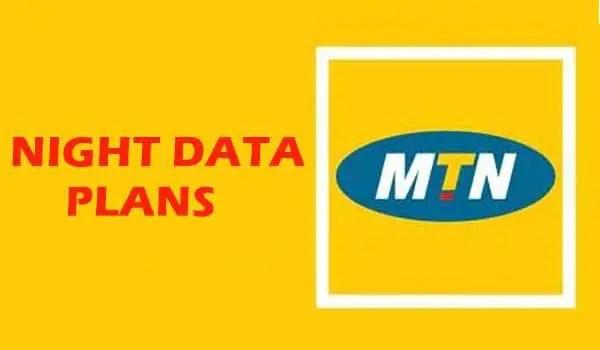 MTN data plans - night