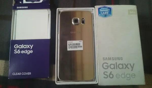 Samsung Galaxy S6 Edge for sale - box