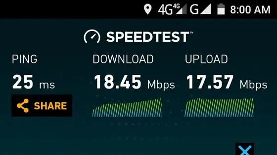InterC 4G Speedtest