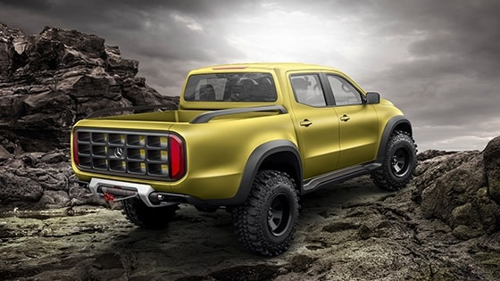 Mercedes-Benz pickup - Concept X-CLASS -rear-side