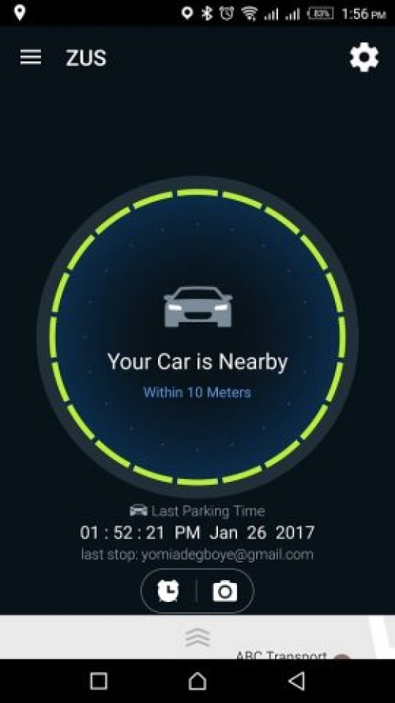 ZUS Smart Car Finder