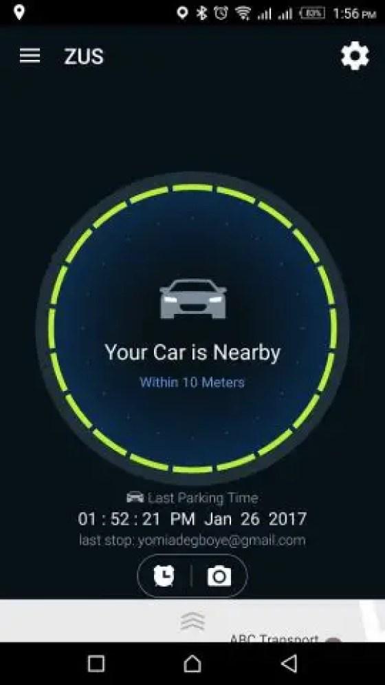 ZUS Smart Car Finder