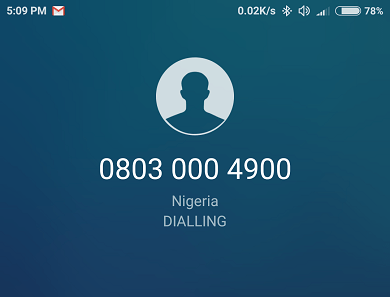 lagoon phone call from 08030004900