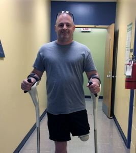 William explains why he feels the M+D Crutch is an advancement in medical technology over a traditional civil war-era crutch
