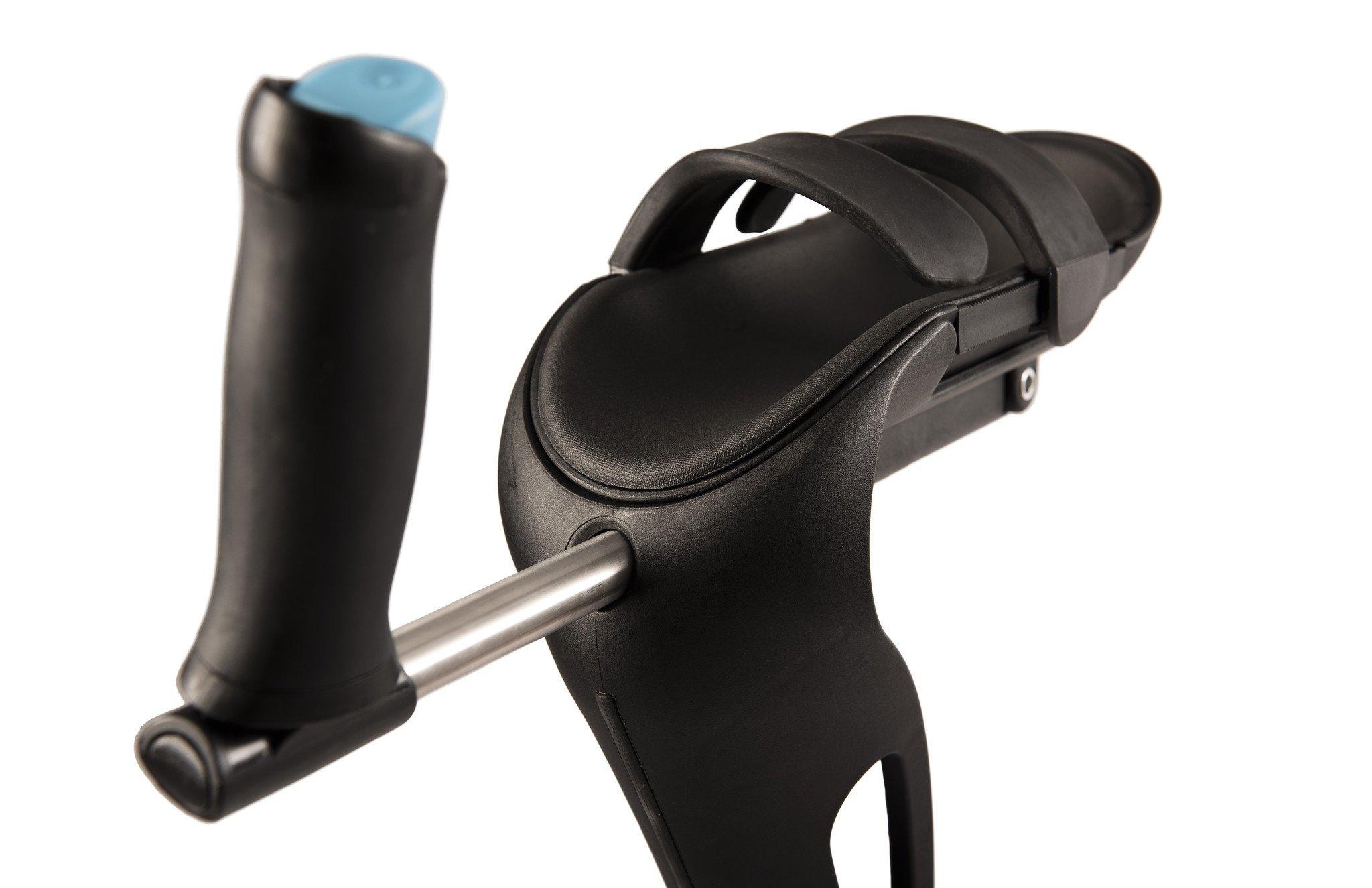 how to use a single elbow crutch