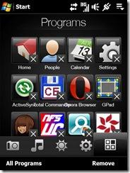 programs tab