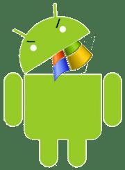 androideatingmicrosoftflagforlunch