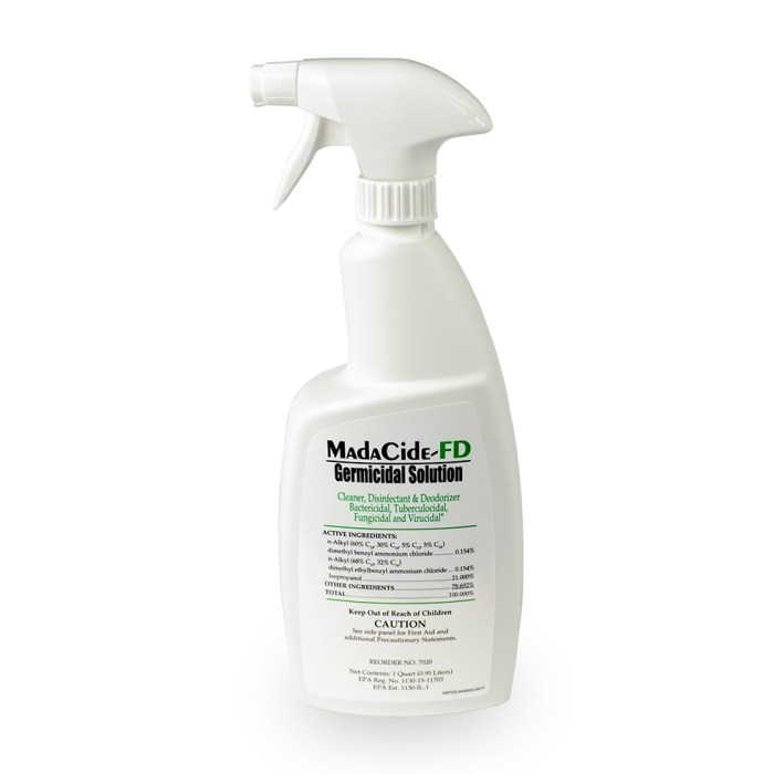 Fast Dry Disinfectants