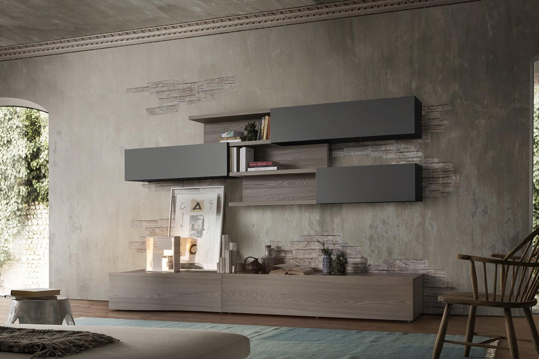 Arredodacasa.com parete attrezzata angolare su18 : Living Room Wall Systems Mobili Zambonato
