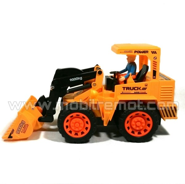 RC Bulldozer XieMing 6818L samping