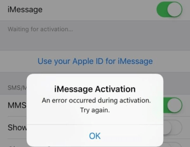 activate iMessage