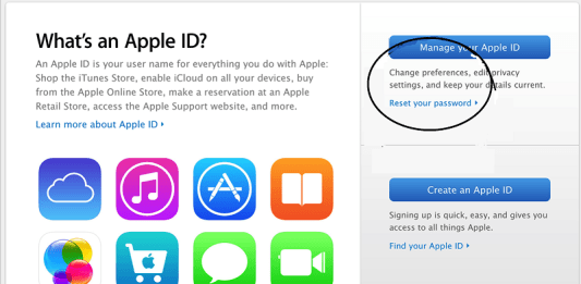 Iforget.apple.com
