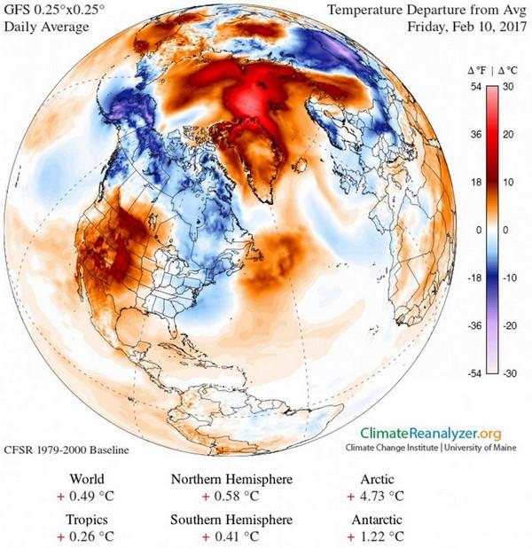 Sea ice hits record bows at both poles