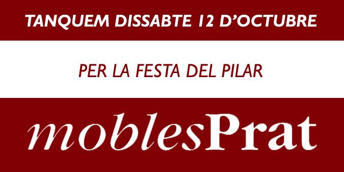DISSABTE DIA 12 D'OCTUBRE,TANCAT PER LA FESTA DEL PILAR