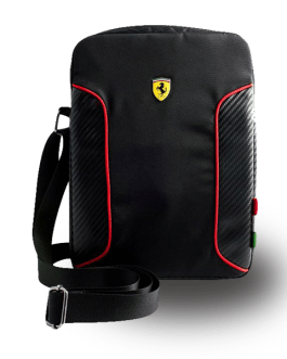 Original Ferrari 17 inches black laptop bag