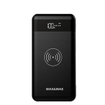 Max and Max Wireless Power Bank 10000 mAh with dual USB port – Black