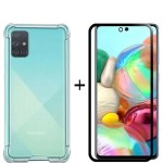 Max & Max A71 Tempered Glass + Cover Bundle