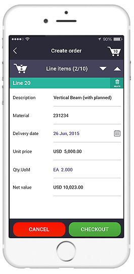 sap sales order entry app