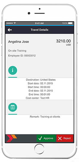 sap travel details app