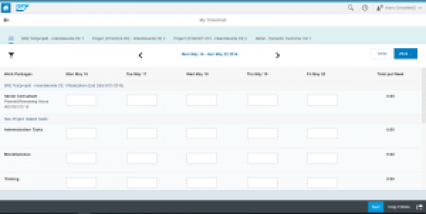 SAP Fiori Manage My Timesheet App