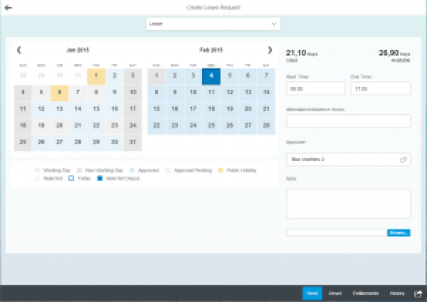 SAP Fiori My Leave Requests App