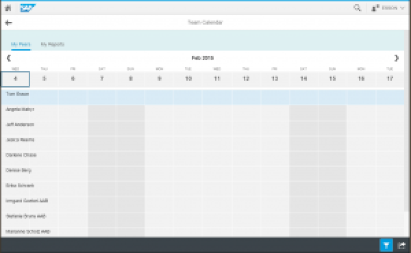 SAP Fiori My Team Calendar App