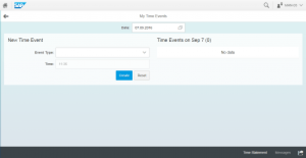 SAP Fiori My Time Events App