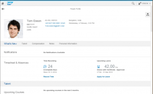 SAP Fiori People Profile App