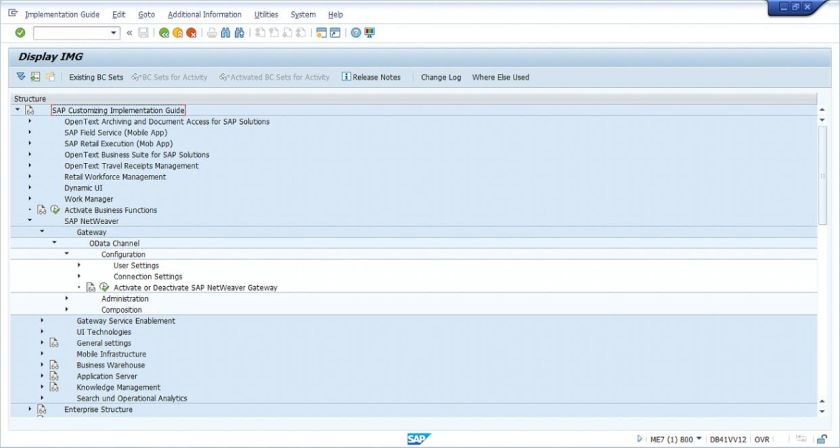 SAP Fiori Configuration Guide - Netweaver Gateway Activation Screen