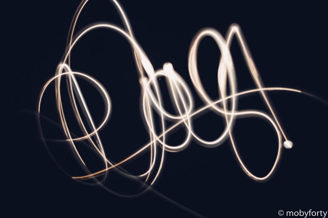mein erstes Lightpainting Bild