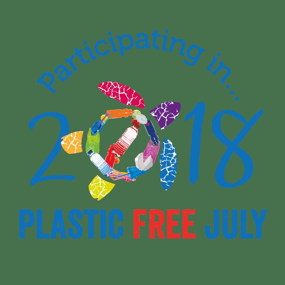 Logo der #plasticfreejuly challenge