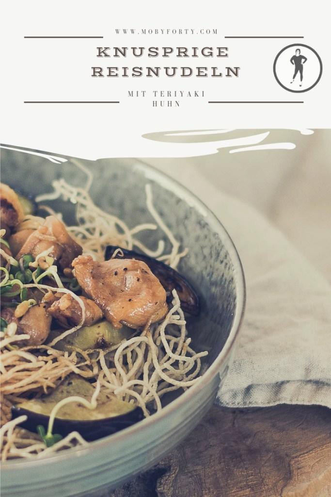 Rezept für knusprige Reisnudeln mit Huhn Teriyaki zum Download.