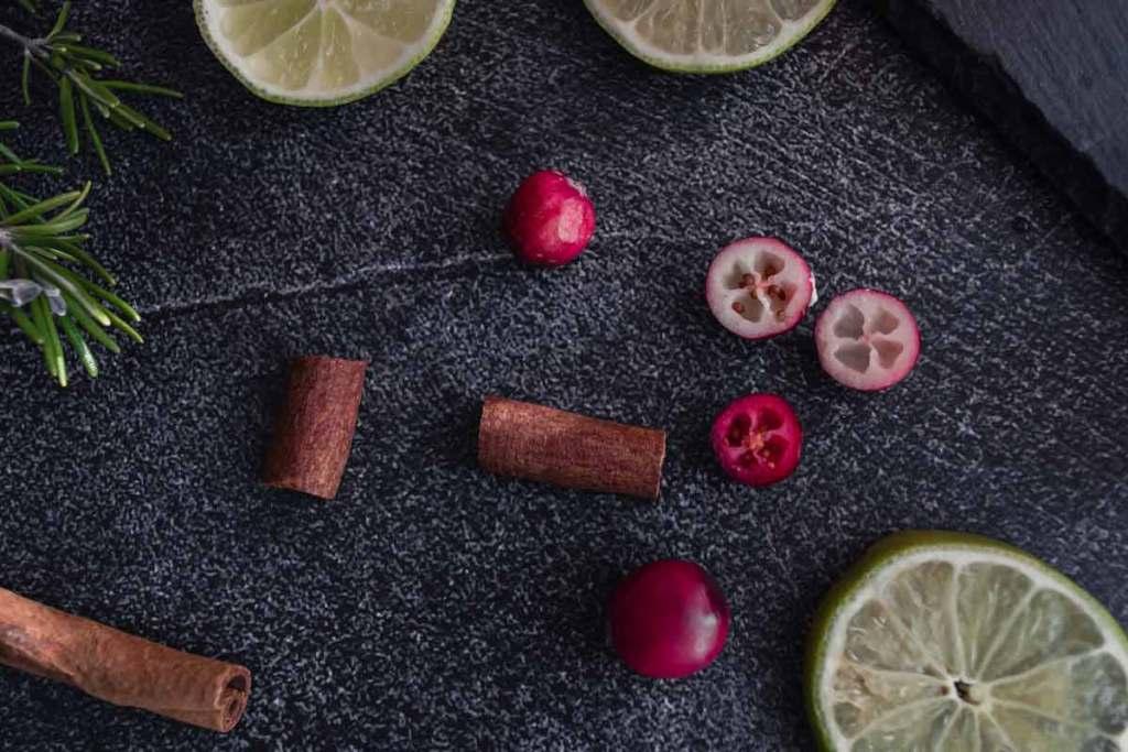 Zutaten des Cranberry Sirup