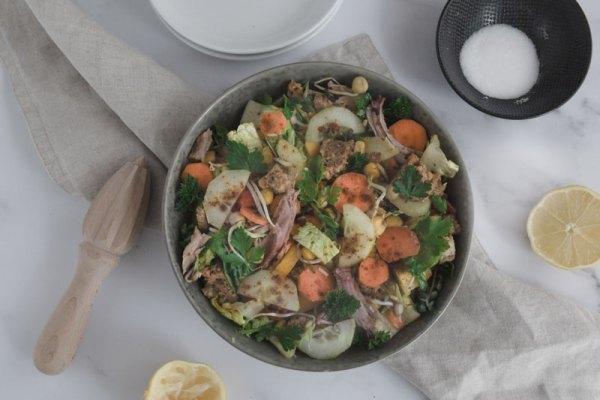 Restesalat mit Buttermilchdressing