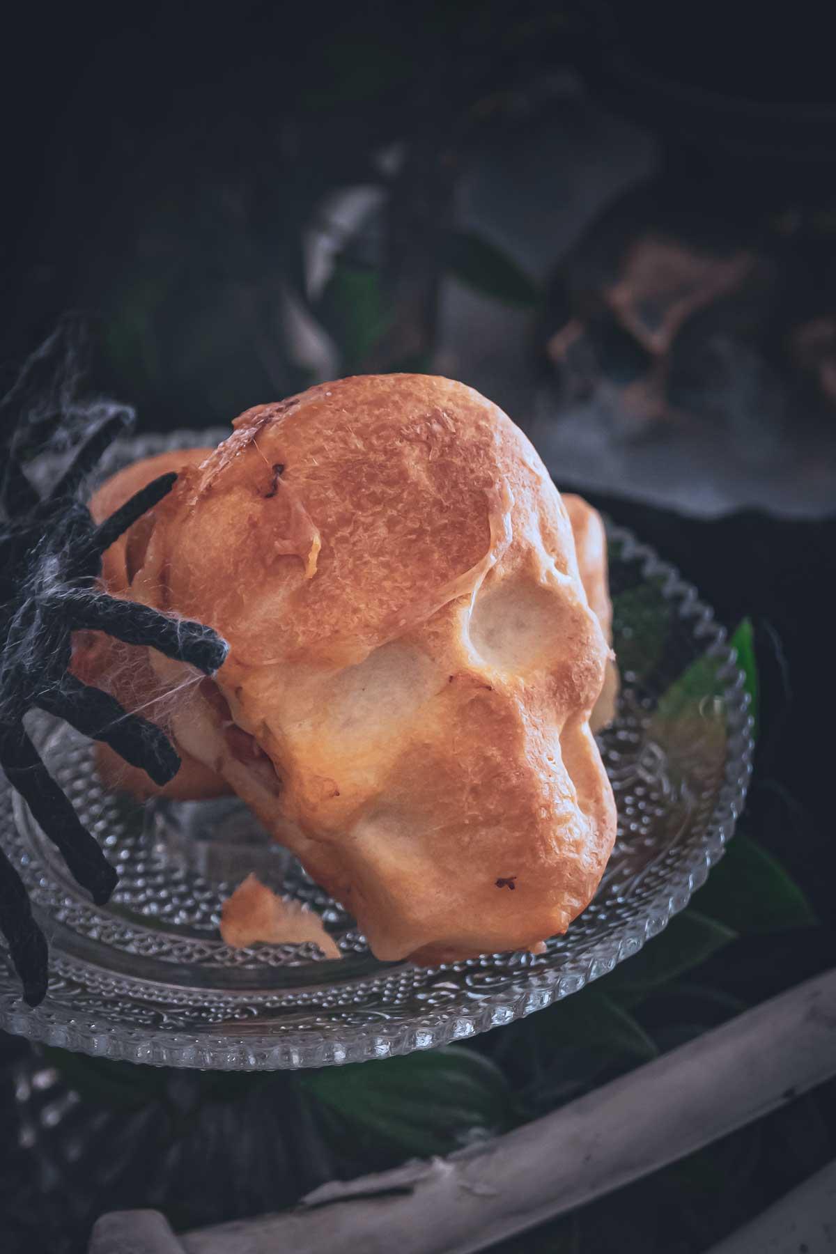 Totenkopf Pizza Halloween
