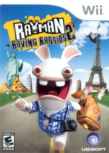 Rayman Raving Rabbids 2  2007  Wii box cover art   MobyGames Rayman Raving Rabbids 2 Wii Front Cover