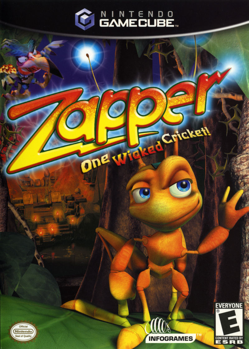 Zapper One Wicked Cricket 2002 GameCube Box Cover Art MobyGames